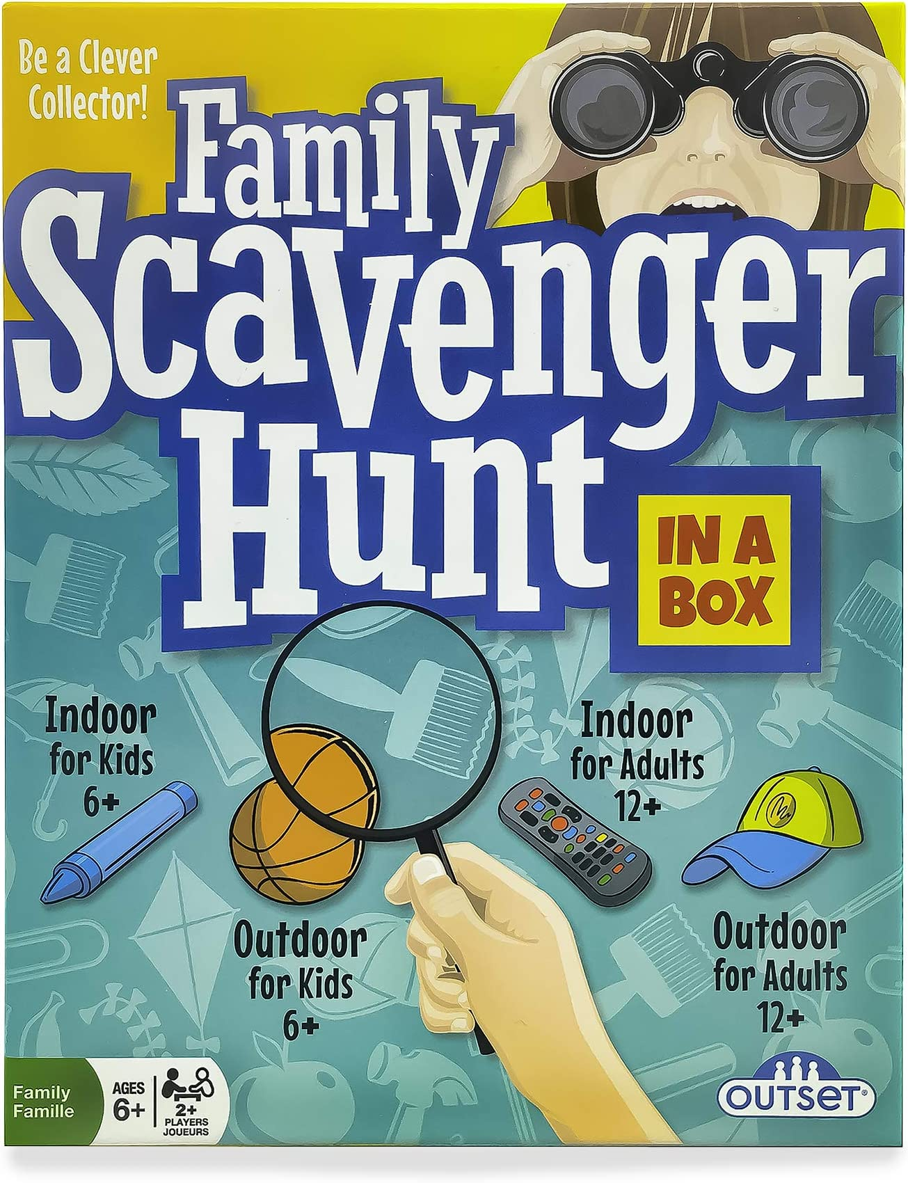 Family Scavenger Hunt Game (Amazon Exclusive) – Contains Over 200 Cards – Fun Party Game for The Whole Family 2 or More Players Ages 6 and up by Outset Media , Blue, Green, Yellow
