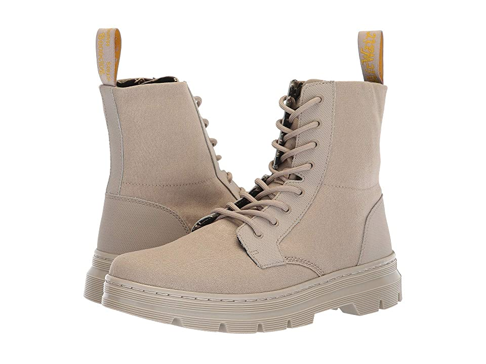 Dr. Martens Combs II Tract (Taupe Broder/Taupe 10oz Canvas) Boots