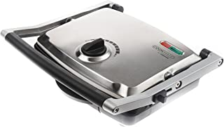 Cookmate Artisan XL Panini Grill Press, 1500W - 6-Slice Capacity - Brushed Stainless Steel, Dual Non-Stick Plates - Perfect for Sandwiches, Meats, Fish, Veggies, & More - By Unity