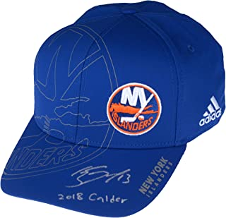 4a14c2ff0bf Mathew Barzal New York Islanders Autographed Adidas On-Ice Second Season Cap  with 2018 Calder