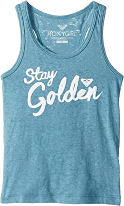 Roxy Golden Racerback Tank Top (Toddler/Little Kids/Big Kids)