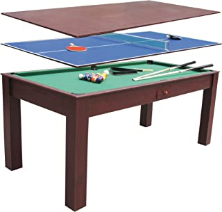 Devessport - Multijuego 3 en 1 - Billar, Ping-pong, Mesa de