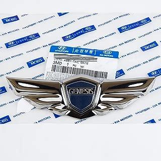 Hyundai Genesis Sedan Wing Tail / Trunk Emblem Black Chrome *GENUINE OEM*