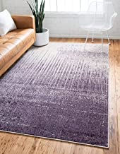 Unique Loom Del Mar Collection Contemporary Transitional Purple Area Rug (4' 0 x 6' 0)