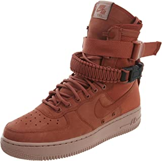 NIKE W SF AF1 Womens Fashion-Sneakers 857872-202_11.5 - Dusty Peach/Dusty Peach-Particle Pink