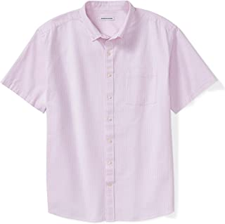 Amazon Essentials Men's Short-Sleeve Pocket Oxford Shirt fit by DXL