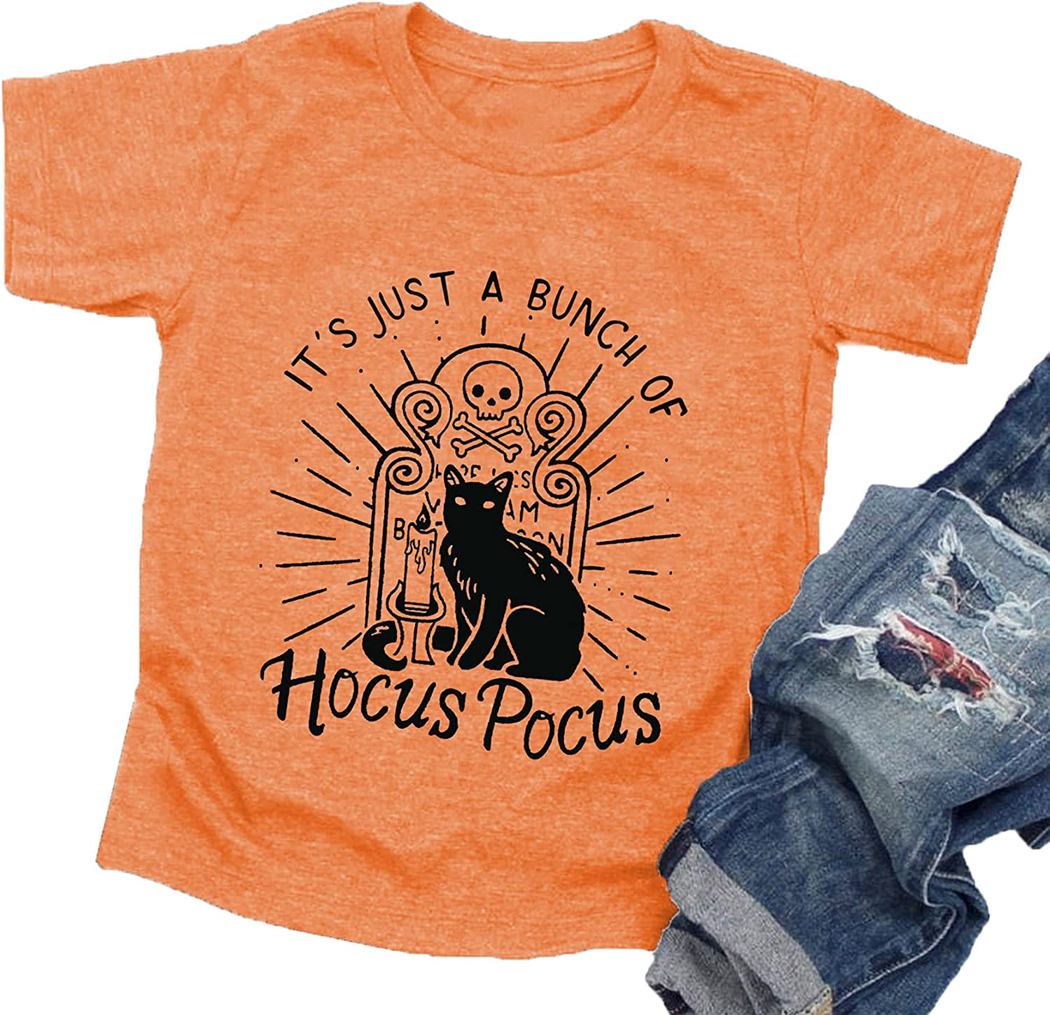 Halloween T Shirt Toddler Boys Girls It's Just A Bunch of Hocus Pocus Shirts Baby Graphic Tees Tops