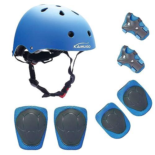 fad469d669e KAMUGO Kids Helmet Knee Pads for Kids 3-8 Years Toddler Helmet, Kids Bike