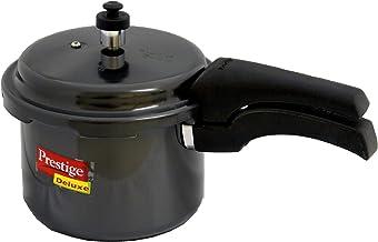 Prestige Deluxe Hard Anodized Black Color Pressure Cooker, 3-Liter