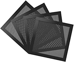 MoKo 140mm Dust Filter for Computer Cooler Fan, [4 Pack] Magnetic Frame PC Fan Dust Mesh PC Cooler Filter Dustproof PVC Cover Computer Fan Grills - Black