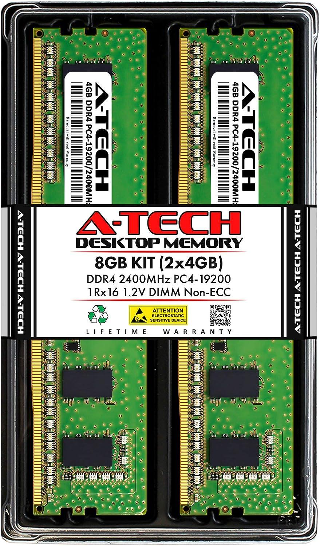 A-Tech 8GB Superlatite 2x4GB DDR4 2400MHz DIMM Non-ECC PC4-19200 1Rx Direct stock discount UDIMM