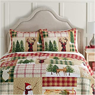 St. Nicholas Square Yuletide Holiday Collection Quilt, Full/Queen