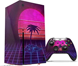 WraptorSkinz Skin Wrap compatible with the 2020 XBOX Series X Console and Controller Synth Beach (XBOX NOT INCLUDED)