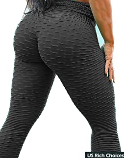 SEASUM Women's High Waist Yoga Pants Tummy Control...