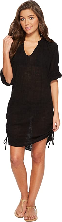 Seafolly - Bali Hai Textured Gauze Beach Shirt Cover-Up