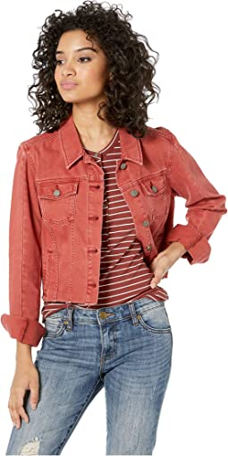Relaxed Vivienne Jacket w/ Seaming + Raw Hem