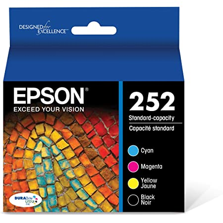 EPSON T252 DURABrite Ultra Ink Standard Capacity Black & Color Cartridge Combo Pack (T252120-BCS) for select Epson WorkForce Printers
