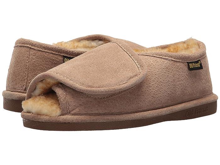 Old Friend  Ladies Step-In (Chestnut W/Stony Fleece) Womens Slippers