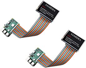 "SamIdea 2-Pack 40pin Male to Female IDC GPIO Rainbow Ribbon Cable Jumper Wire for Raspberry Pi A+/B+/3 B, 20cm/8"""