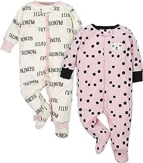 Gerber Baby-Girls 2-Pack Sleep 'N Play Long Sleeve Sleepers - Pink