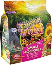 """F.M. Brown's Tropical Carnival Gourmet Bird Food for Parrots, African Greys, and Conures Under 13"""", Probiotics for Digesti..."""