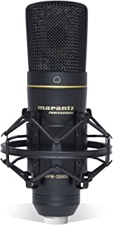 Marantz Professional MPM-2000U | Large Diaphragm Studio Quality USB Condenser Microphone For Podcasting & Recording, Including Shockmount, USB Cable & Carry Case
