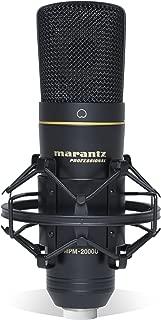 Marantz Professional MPM-2000U | Large Diaphragm Studio Quality USB Condenser Microphone For Podcasting & Recording, Including Shockmount, USB Cable & Carry Case
