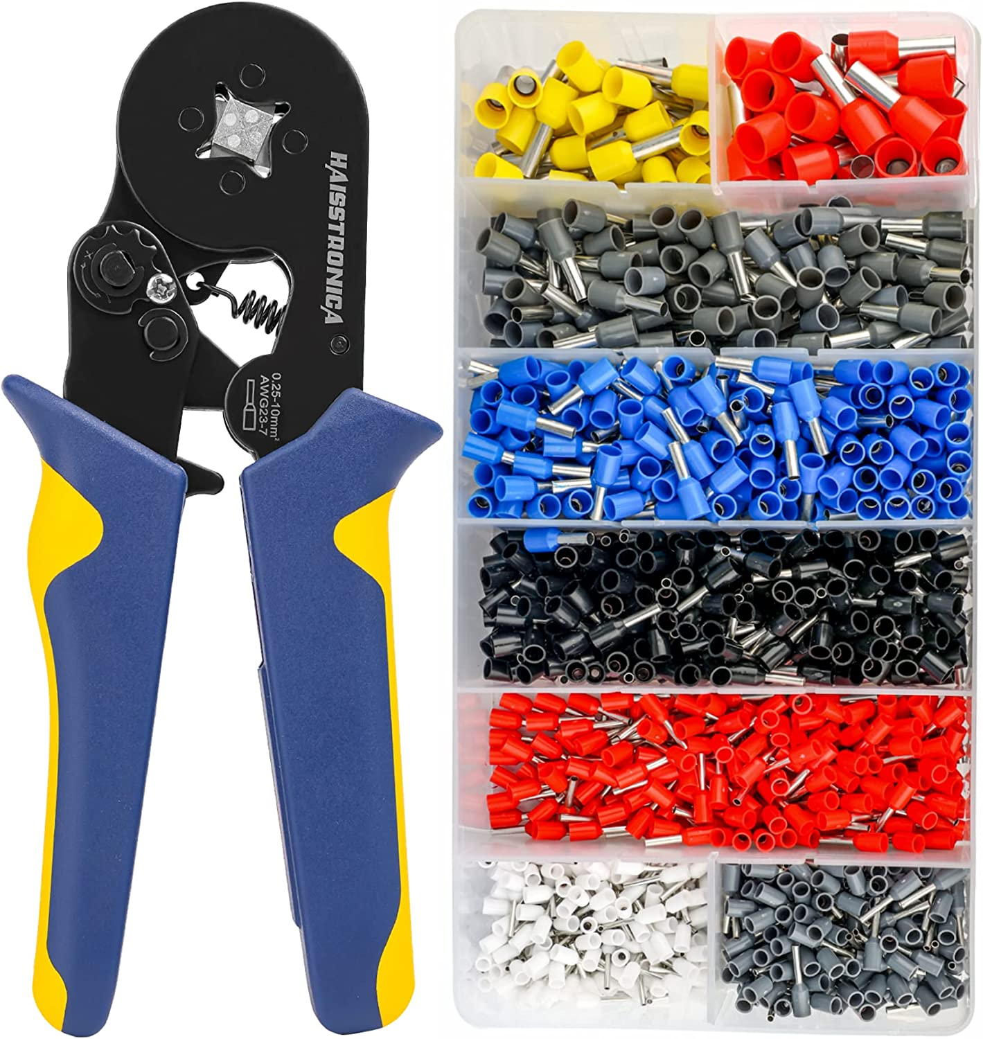 Haisstronica Ferrule Crimping Tool Our shop most popular Houston Mall Wir Self-Adjusting Square Kit
