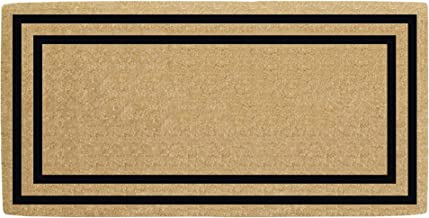 "Nedia Home O2181 Thin Double Picture Frame Black 36"" x 72"" HeavyDuty Coir Plain Doormat, Natural"