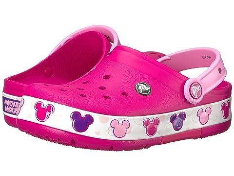 6f27200ff796 Crocs Kids Crocband Mickey Fun Lab Lights Clog (Toddler Little Kid ...