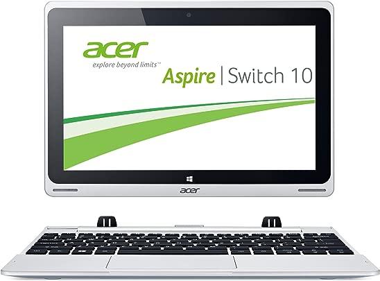 Acer Aspire Switch 10 SW5-011 25 7 cm  10 1 Zoll  Convertible Laptop  Intel Atom Z3745  1 3GHz  2GB RAM  32GB eMMC  Intel HD Grafik  Win 8 1  grau