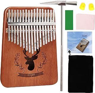 MASCARRY 17 Keys Thumb Piano Built in EVA High-performance protective box, Portable Mbira Wood Finger Piano with Tuning Ha...