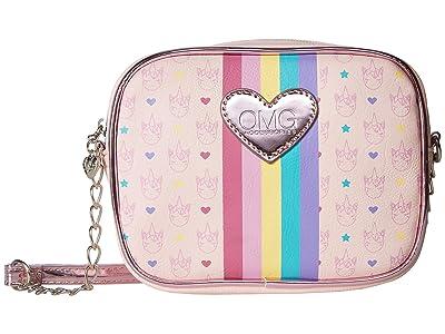 OMG! Accessories Unicorn Logo Print Crossbody (Pink) Cross Body Handbags