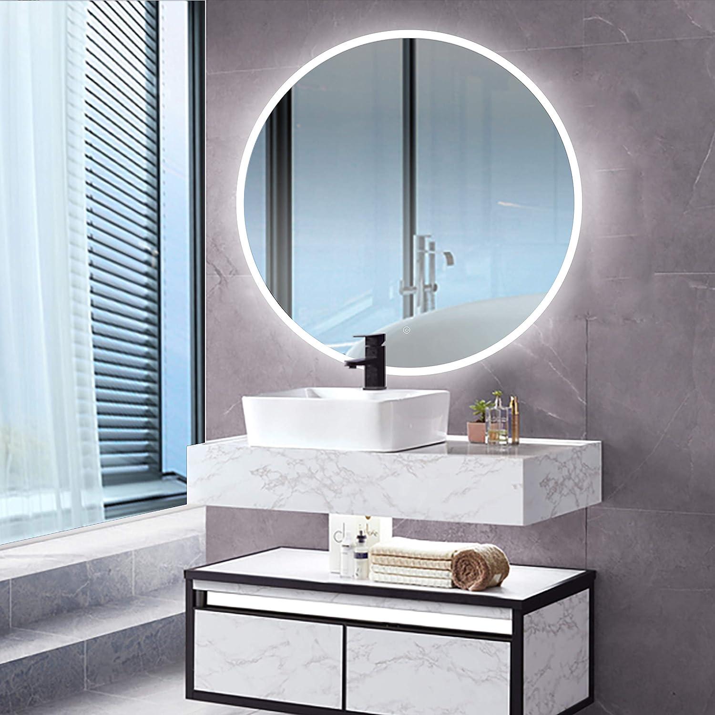 Renewal Moon Series Led Backlit Bathroom Wall Mounted Illuminated Mirror Dimmable Amazon Ca Home