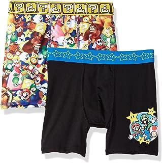 Nintendo Boys' 2-Pack Athletic Boxer Brief Underwear