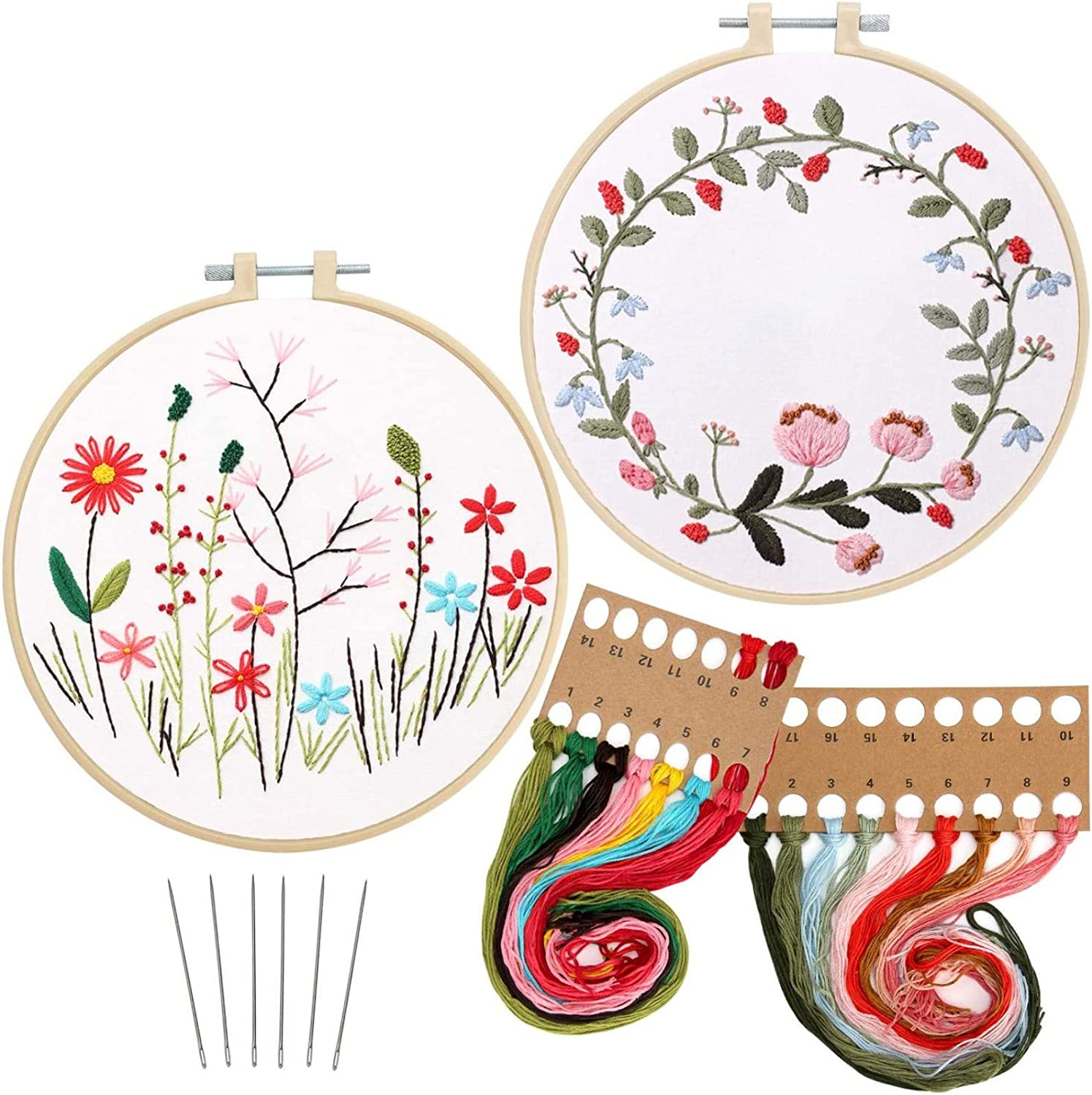 New item 2 Pack Embroidery Kit with Pattern of Animer and price revision Range Embroi Stamped Full