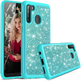 Cbus Wireless Sparkling Glitter Bling Phone Case Compatible with Samsung Galaxy A21 Samsung Galaxy A21 Blue 200633