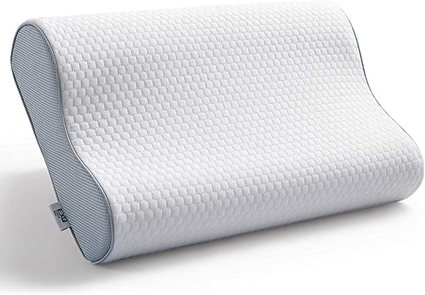 EXQ Home Memory Foam Contour Pillows For Sleeping Standard Size Bed Pillow For Side Sleeper