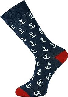 Mysocks, Calcetines de diseño de tobillo unisex Gran ancla de la marina