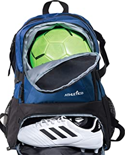 Athletico National Soccer Bag - Backpack for Soccer, Basketball & Football Includes Separate Cleat and Ball Holder