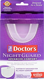 نايت غارد ادفانسد كومفورت من ذا دكتورز | 1 واقي الأسنان وعلبة | واقي طبي لصرير الأسنان أثناء الليل