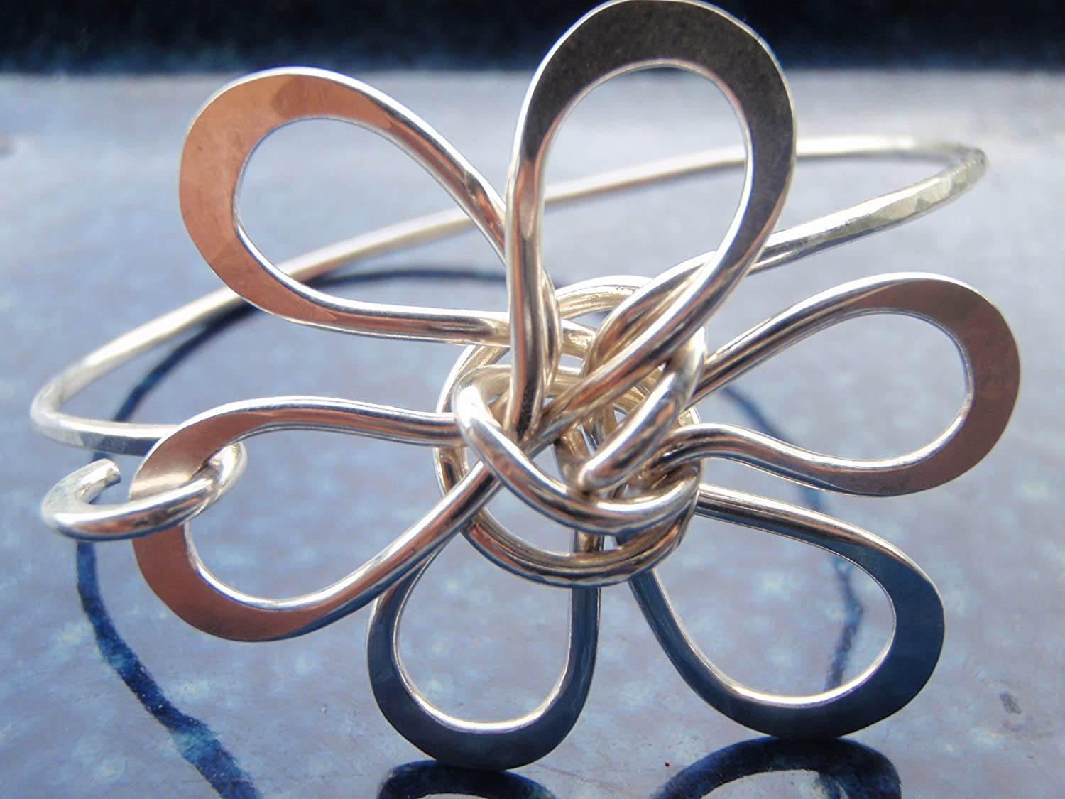 Handcrafted Plumeria Design Bracelet Silver Manufacturer Indianapolis Mall OFFicial shop