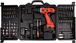 Cordless Drill Set-78 Piece Kit, 18-Volt Power Tool with Bits, Sockets, Drivers, Battery Charger, AC Adapter, Flashlight a...