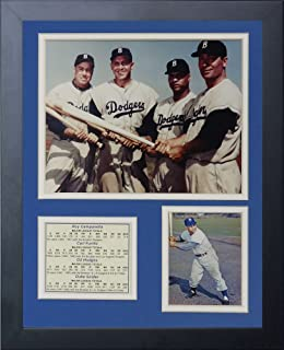 Legends Never Die Brooklyn Dodgers 50's Big Four Framed Photo Collage, 11 by 14-Inch