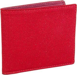 40 COLORI - Portafoglio Tinta Unita in Pelle e Maglia di Seta (USA), Rosso,