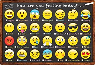 Ashley Productions ASH91032 Smart Poly Chart, Emoji How are You Feeling, Polypropylene (PP), 13