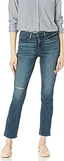 NYDJ Womens MATH1952 Parker Slim in Modern Edit Fit with Knee Slit Jeans - Blue