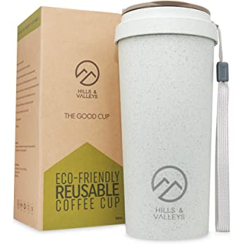 Zero waste coffee concept. Eco friendly reusable coffee cups..