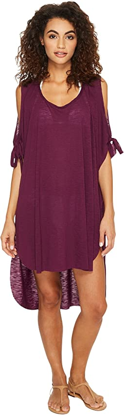 BECCA by Rebecca Virtue Breezy Basics Cold Shoulder Poncho Cover-Up