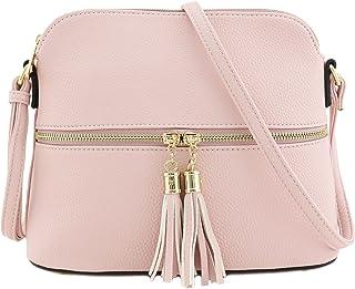 Tassel Zipper Pocket Crossbody Bag